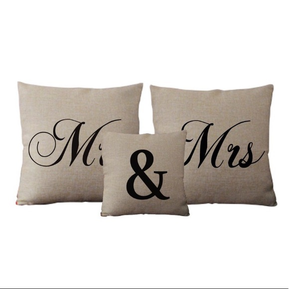 David's Bridal Other Mr Mrs Decorative Pillow Covers Poshmark Gorgeous Mr And Mrs Decorative Pillows